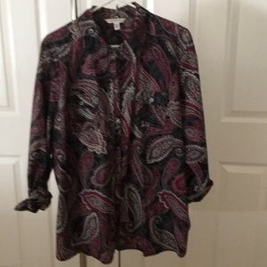 Craft and Barrow Paisley button down shirt 3X